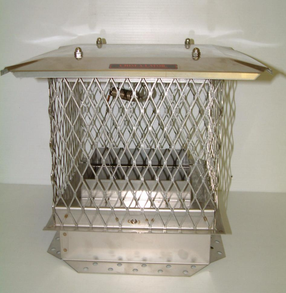 10x18 chim a lator top mount ss chimney damper cap made in for How to close chimney flue