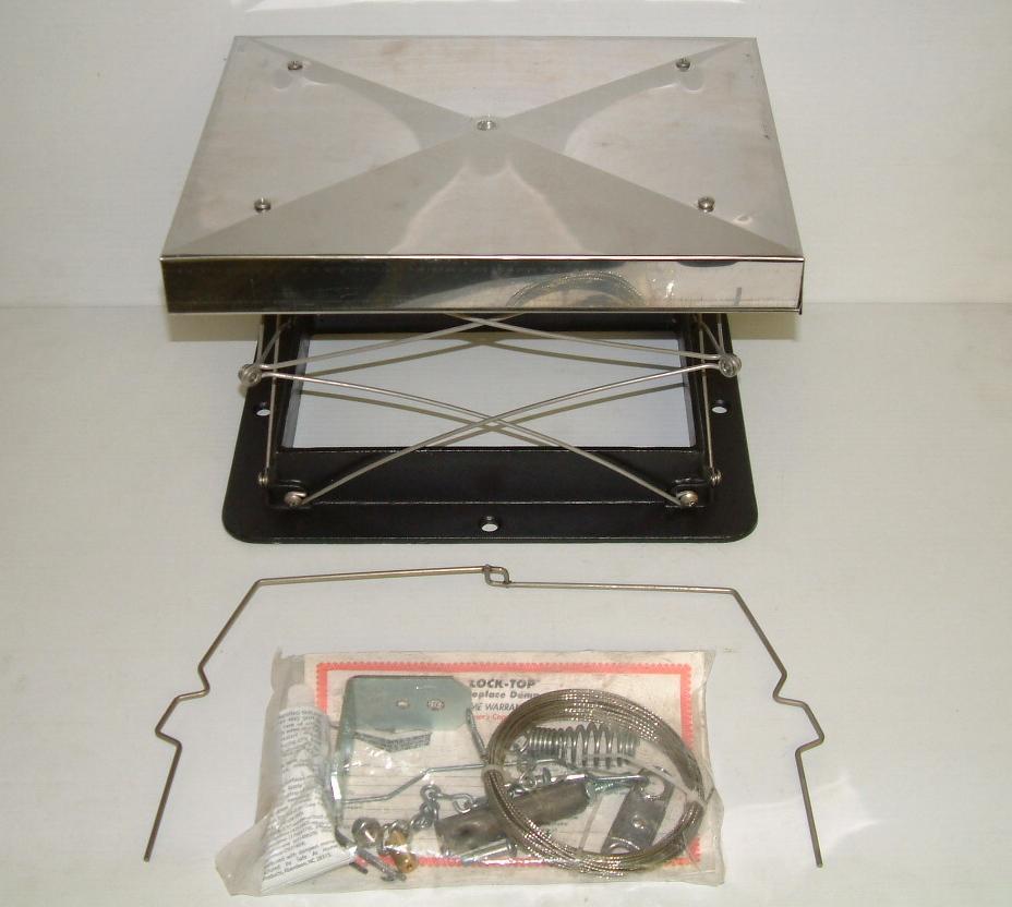 Lyemance Lock Top Style Damper Top Sealing 8x8 Chimney Damper Ebay
