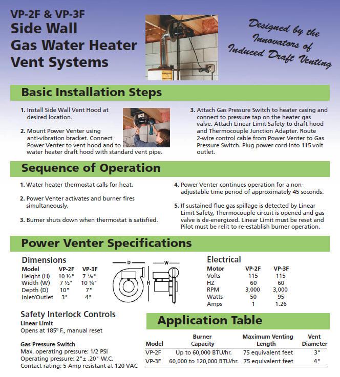 Gas Install Manual Vent Water Heater Screentopp